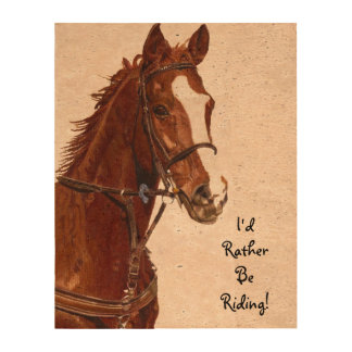 I'd Rather Be Riding Photo Cork Paper
