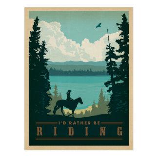 I'd Rather be Riding Postcard