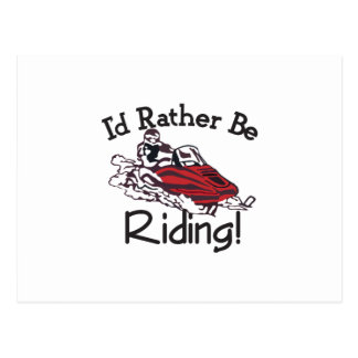 Id Rather Be Riding Postcard