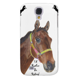 I'd Rather Be Riding Thoroughbred Horse HTC Case