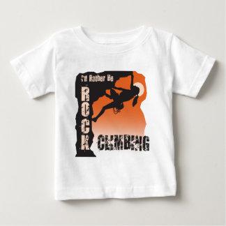 I'd Rather Be Rock Climbing Gals Baby T-Shirt