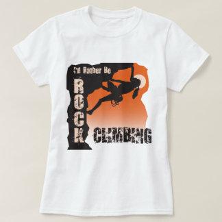 I'd Rather Be Rock Climbing Gals Shirt