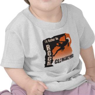 I'd Rather Be Rock Climbing Gals T-shirts