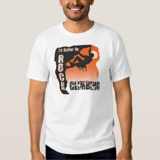I'd Rather Be Rock Climbing Guys Tee Shirt