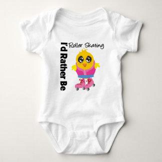 I'd Rather Be Roller Skating Baby Bodysuit