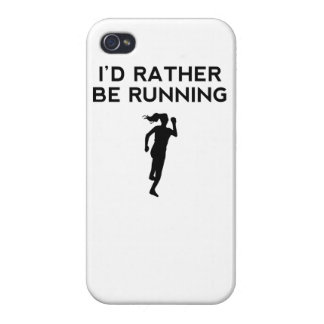 I'd Rather Be Running iPhone 4 Case