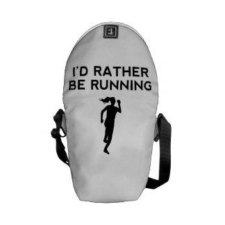 I'd Rather Be Running Messenger Bag
