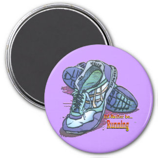 I'd Rather Be Running _ Sneakers 3 Inch Round Magnet