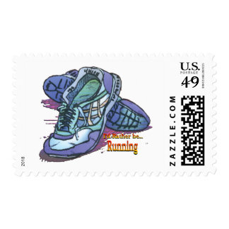 I'd Rather Be Running - Sneakers Postage Stamp