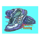 I'd Rather Be Running - Sneakers Postcard