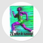 I'd Rather Be Running! Stickers