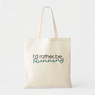 Id rather be running tote bags