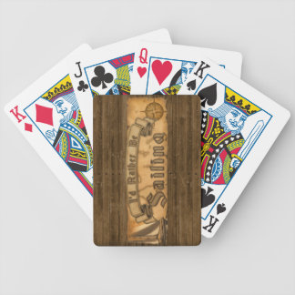 I'd Rather Be Sailing Bicycle Playing Cards