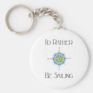 Id Rather Be Sailing Keychain