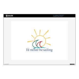 Id Rather Be Sailing Laptop Skin
