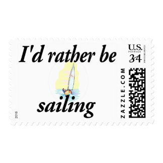 I'd rather be sailing postage stamp