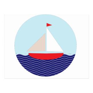 I'd Rather Be Sailing Postcard