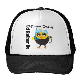 I'd Rather Be Scuba Diving Trucker Hat