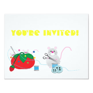 I'd rather be sewing! 4.25x5.5 paper invitation card