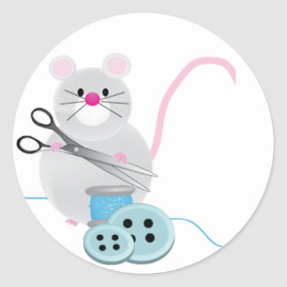 I'd rather be sewing! - mouse stickers