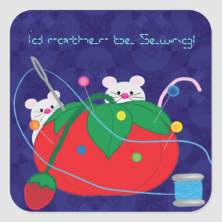 I'd rather be sewing! sticker