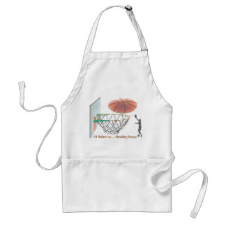 I'd Rather Be Shooting Hoops Apron