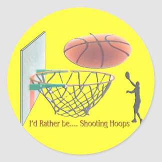 I'd Rather Be Shooting Hoops Classic Round Sticker