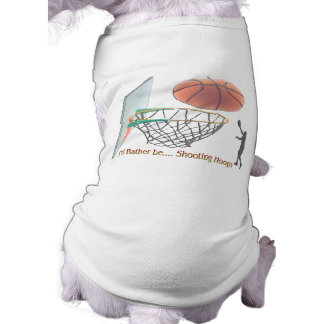 I'd Rather Be Shooting Hoops Doggie T Shirt