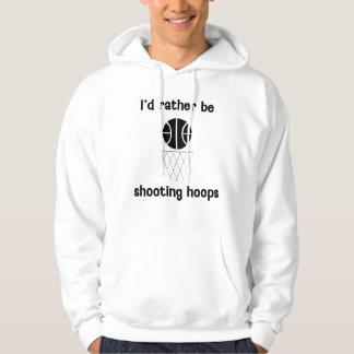 I'd rather be shooting hoops hoodie