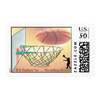 I'd Rather Be Shooting Hoops Postage