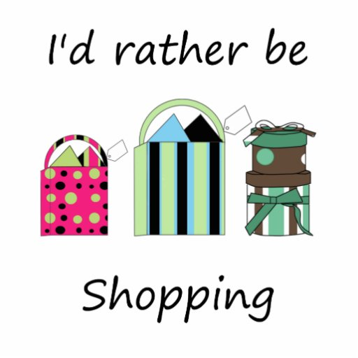 I'd rather be shopping photo cutouts