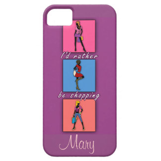 I'd Rather be Shopping Pop Art Phone Case