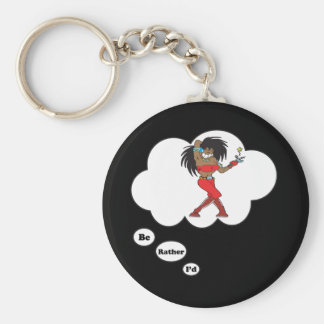 i'd rather be Singing 6 Basic Round Button Keychain