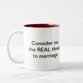 I'd rather be SINGLE Two-Tone Coffee Mug