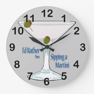 I'd Rather Be Sipping a Martini RoundWall Clock