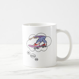 I'd rather be Skate Boarding 3 Classic White Coffee Mug