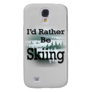 I'd Rather Be Skiing black Samsung Galaxy S4 Case