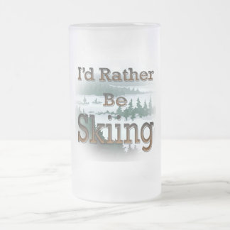 I'd Rather Be Skiing  brown Coffee Mugs
