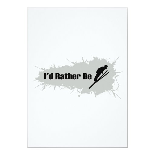 I'd Rather Be Skiing Card