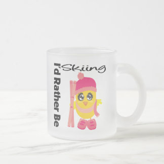 I'd Rather Be Skiing Chick Coffee Mugs