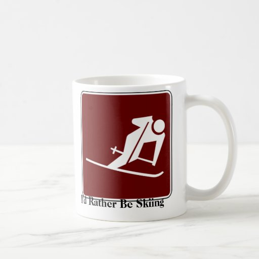 I'd Rather Be Skiing Coffee Mug