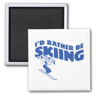 I'd Rather Be Skiing (female) Magnet