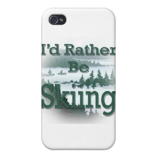 I'd Rather Be Skiing green iPhone 4/4S Cover