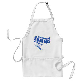 I'd Rather Be Skiing (male) Adult Apron