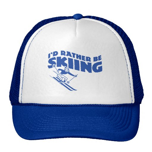 I'd Rather Be Skiing (male) Hats