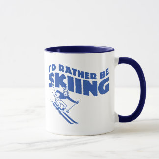 I'd Rather Be Skiing (male) Mug