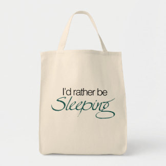 Id rather be sleeping canvas bags