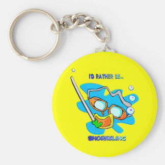 I'd Rather be Snorkeling Keychain