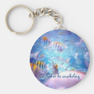 I'd rather be snorkeling key chains