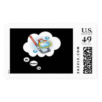 I'd rather be Snorkling Postage Stamp